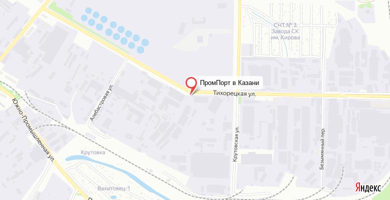 Расположение офиса на карте в Казани